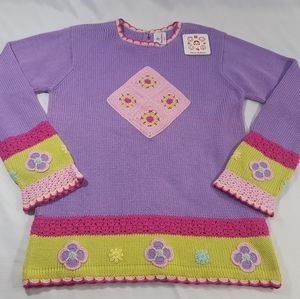 NWT Hannah Andersson Floral Cotton Knit Sweater